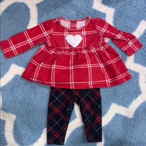 Baby girls plaid matching outfit